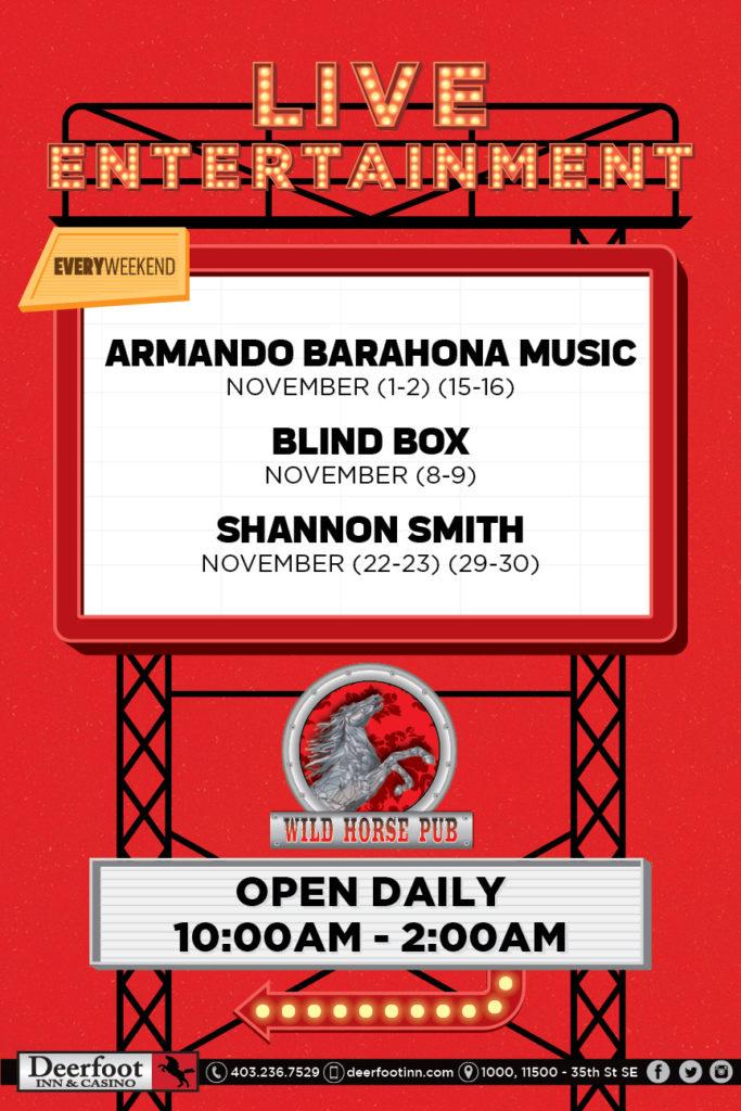 Wild Horse Pub Live Entertainment Lineup