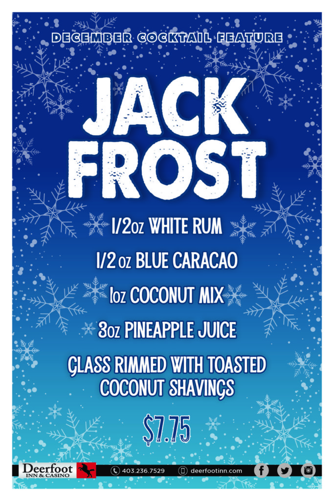 Jack Frost December Cocktail Feature