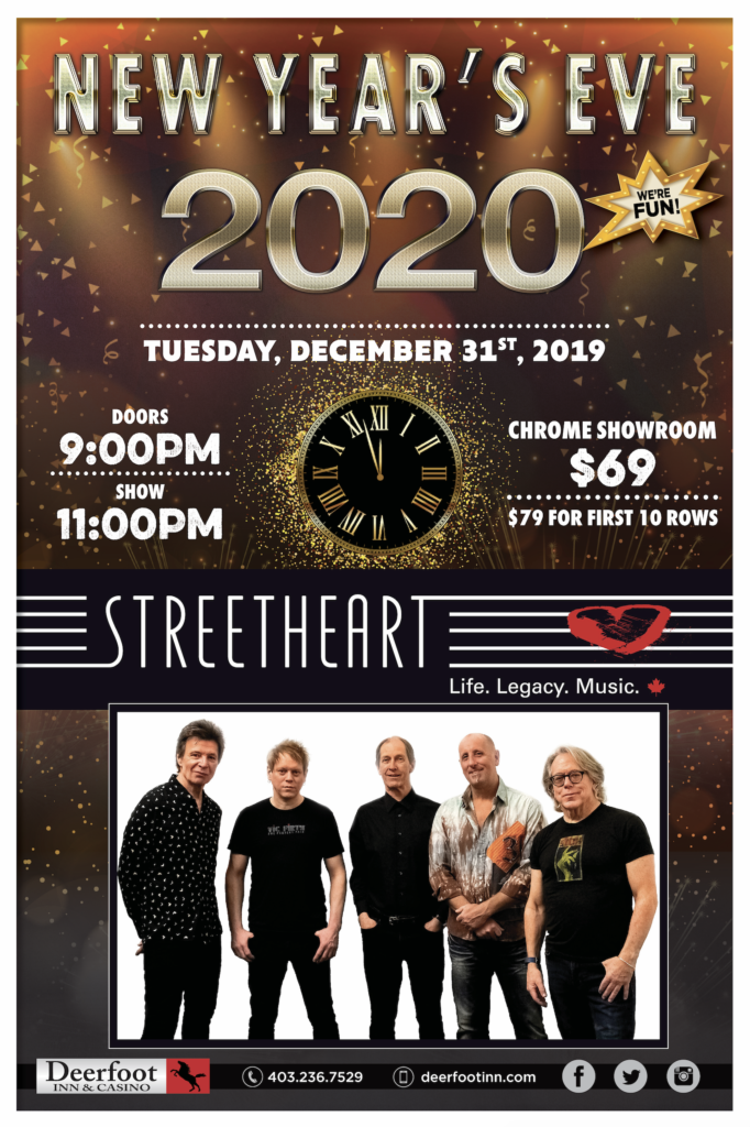 Bring in the New Year with Streetheart at Deerfoot Inn and Casino