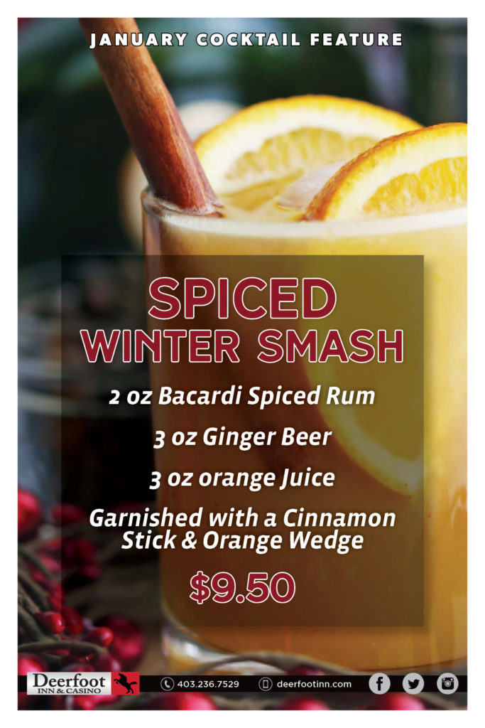 Spiced Winter Smash January Cocktail Feature