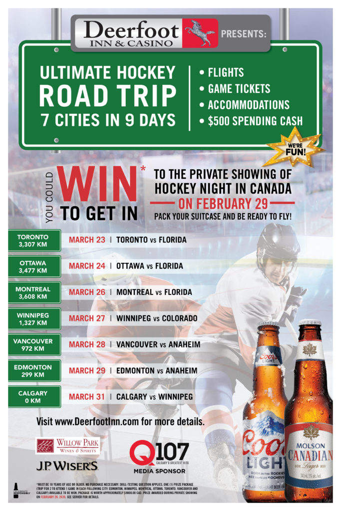 Ultimate Hockey Road Trip at Deerfoot Inn and Casino