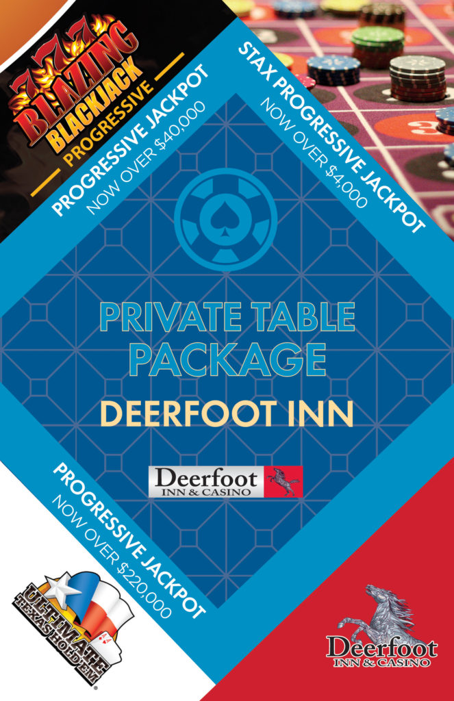 Private Table Package at the Deerfoot Inn and Casino