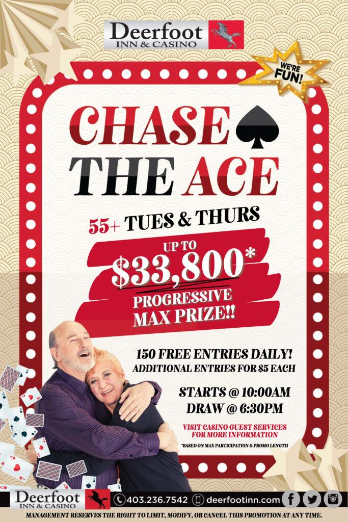 Deerfoot Inn & Casino Senior's Days Chase the Ace Promotion